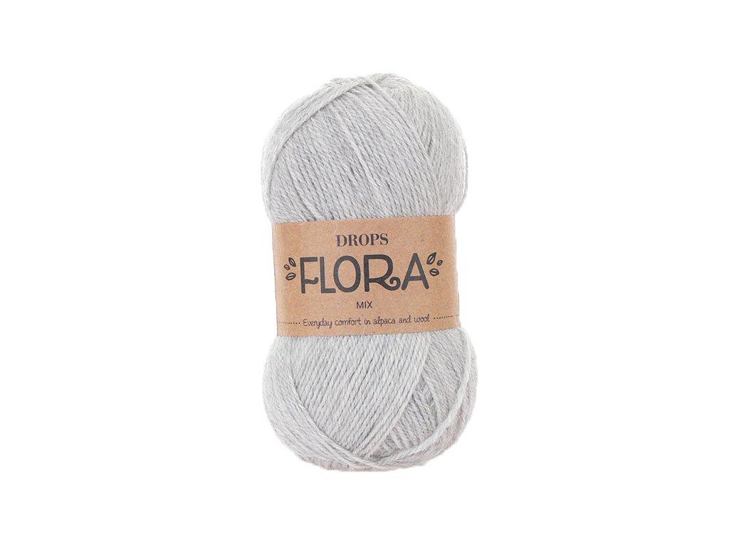 Příze DROPS Flora mix 03 - světlá šedá