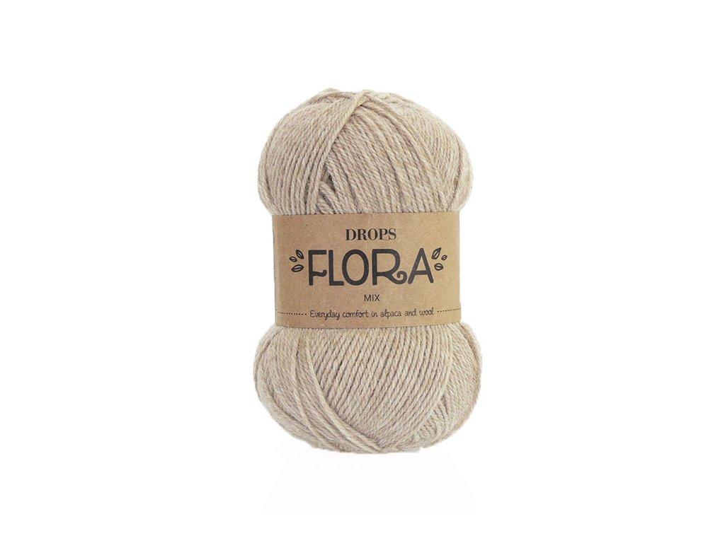 Příze DROPS Flora mix 07 - béžová