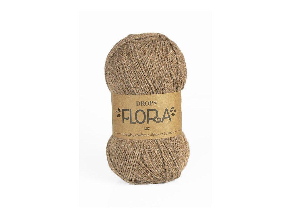 Příze DROPS Flora mix 08 - hnědá