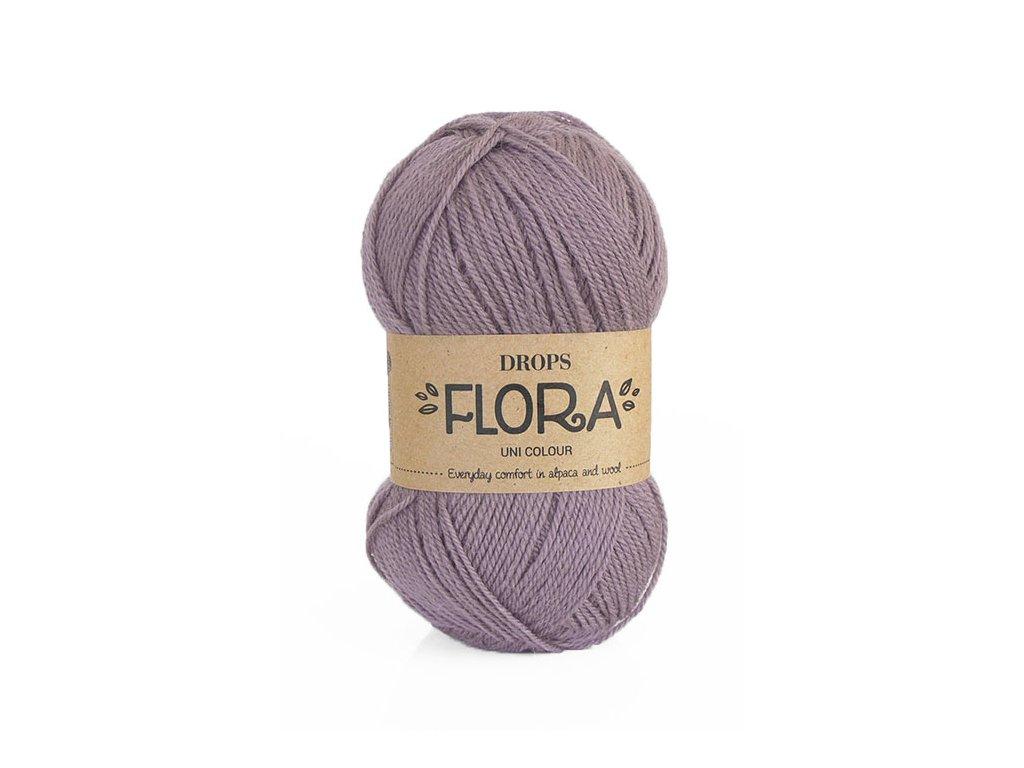 Příze DROPS Flora uni colour 09 - ametyst