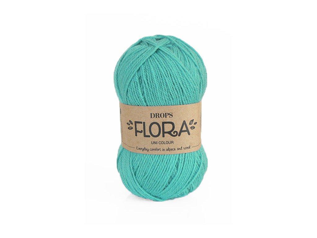 Příze DROPS Flora uni colour 12 - tyrkysová