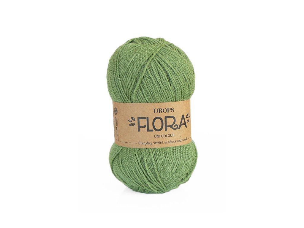 Příze DROPS Flora uni colour 15 - zelená