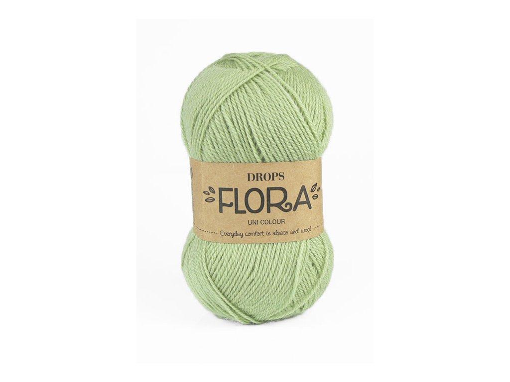 Příze DROPS Flora uni colour 16 - pistáciová