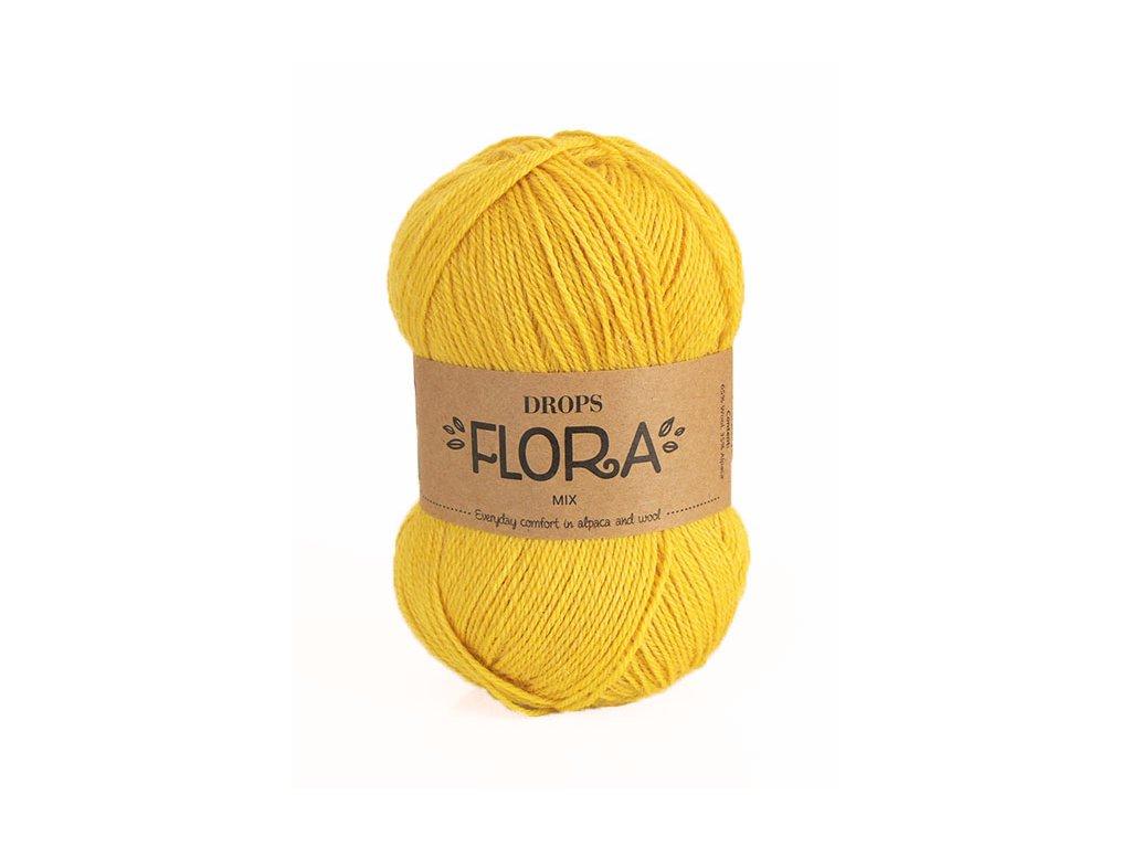 Příze DROPS Flora mix 17 - žlutá