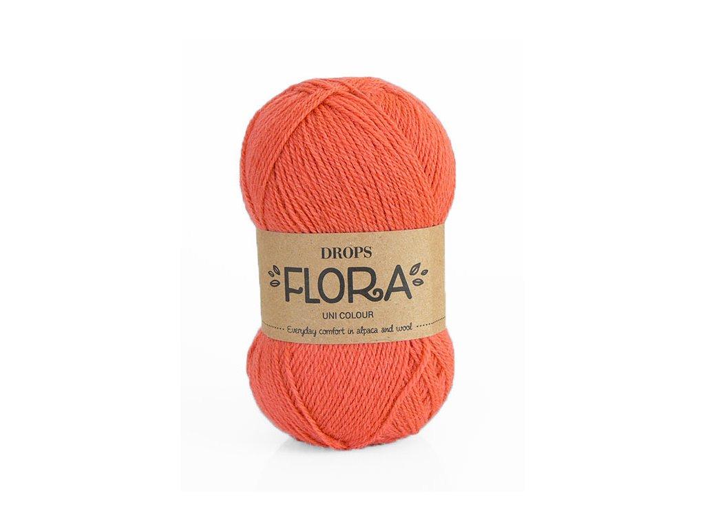 Příze DROPS Flora uni colour 19 - korálová