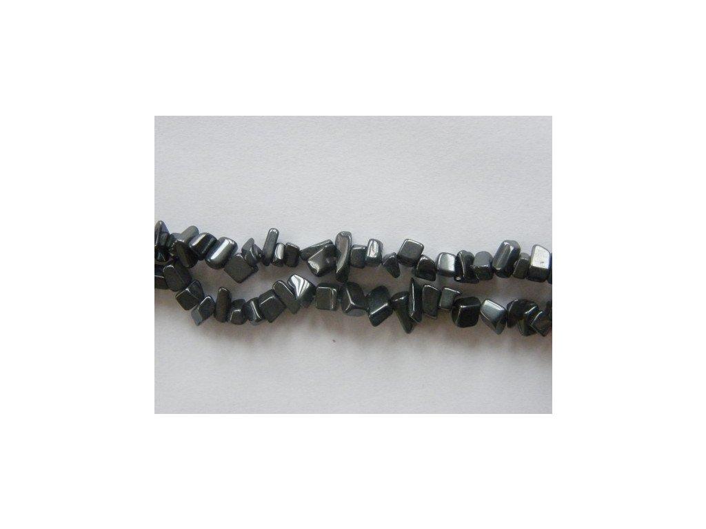 Hematit zlomky, 10cm návleku, cca 10-12g