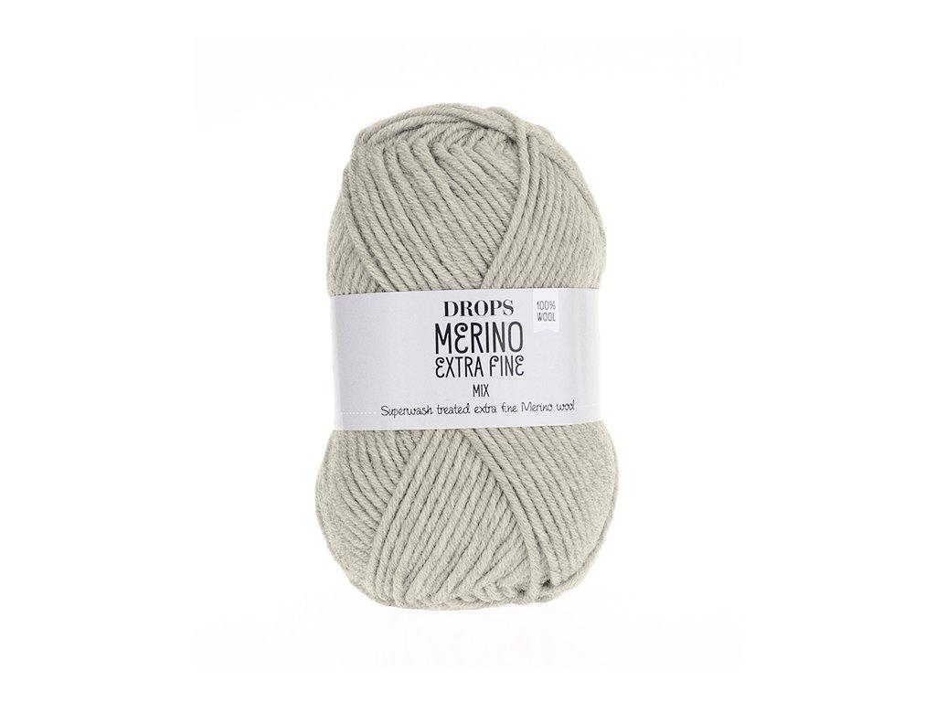 Příze DROPS Merino Extra Fine mix 08 - šedo béžová