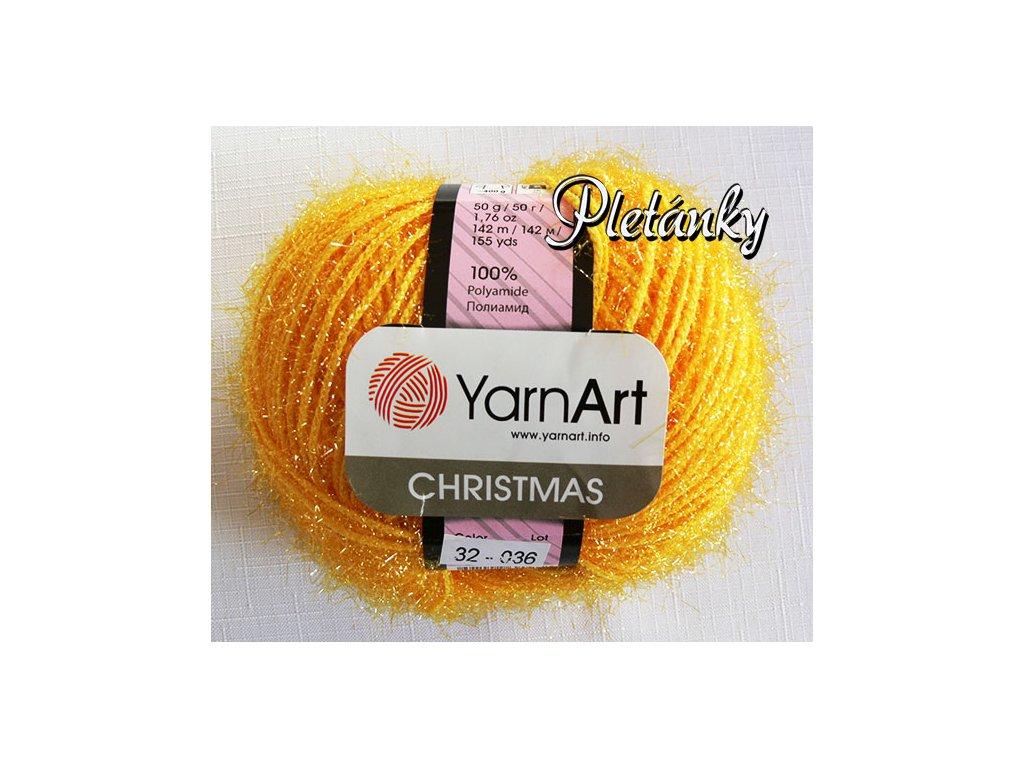 Příze Christmas 32 - žlutá