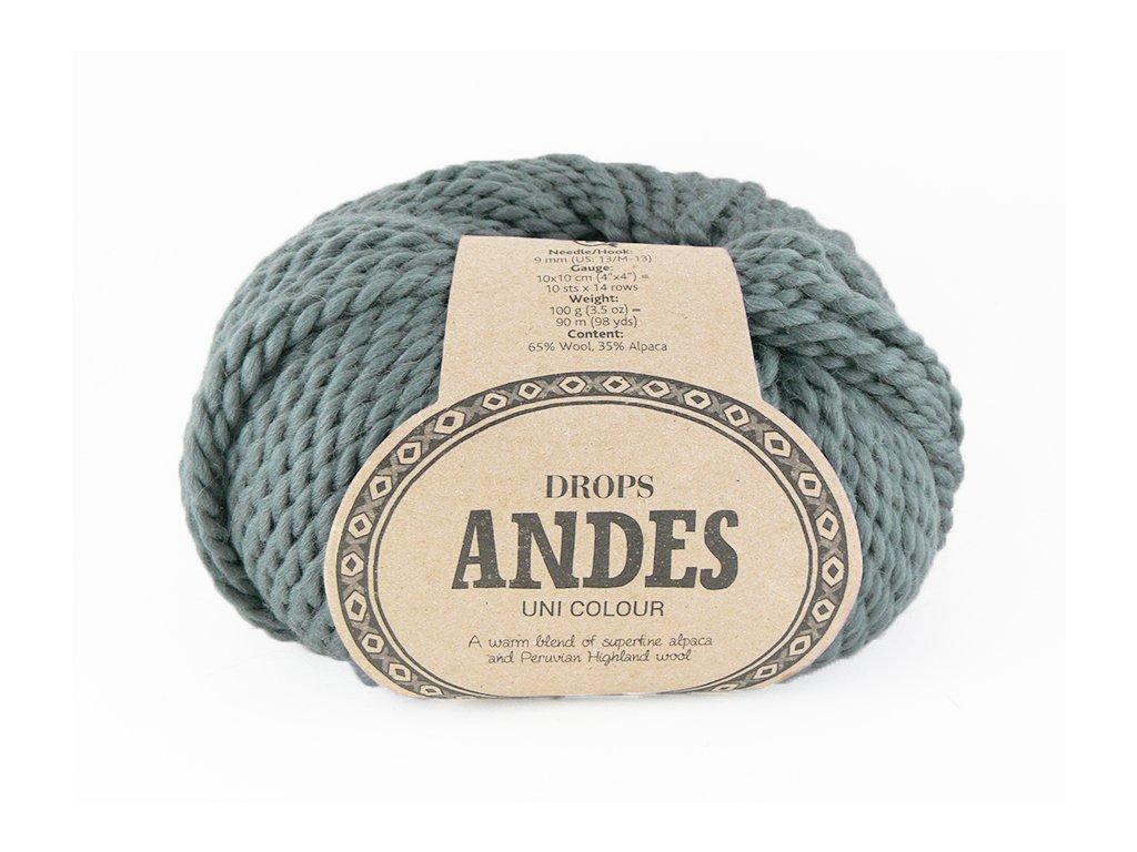 Příze Drops Andes uni colour 8465 - šedá