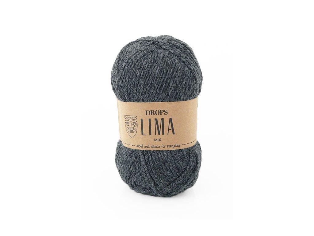 Příze DROPS Lima mix - 0519 tmavá šedá