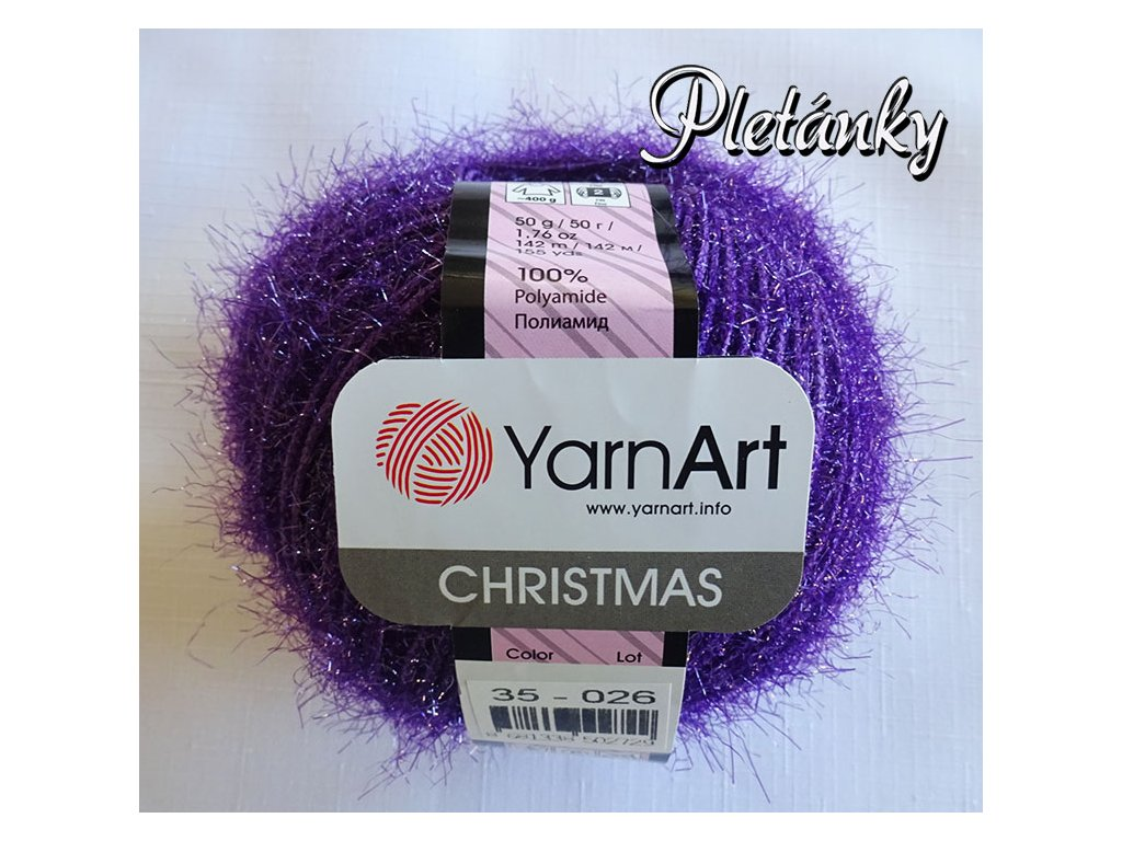 Příze Christmas 35 - fialová