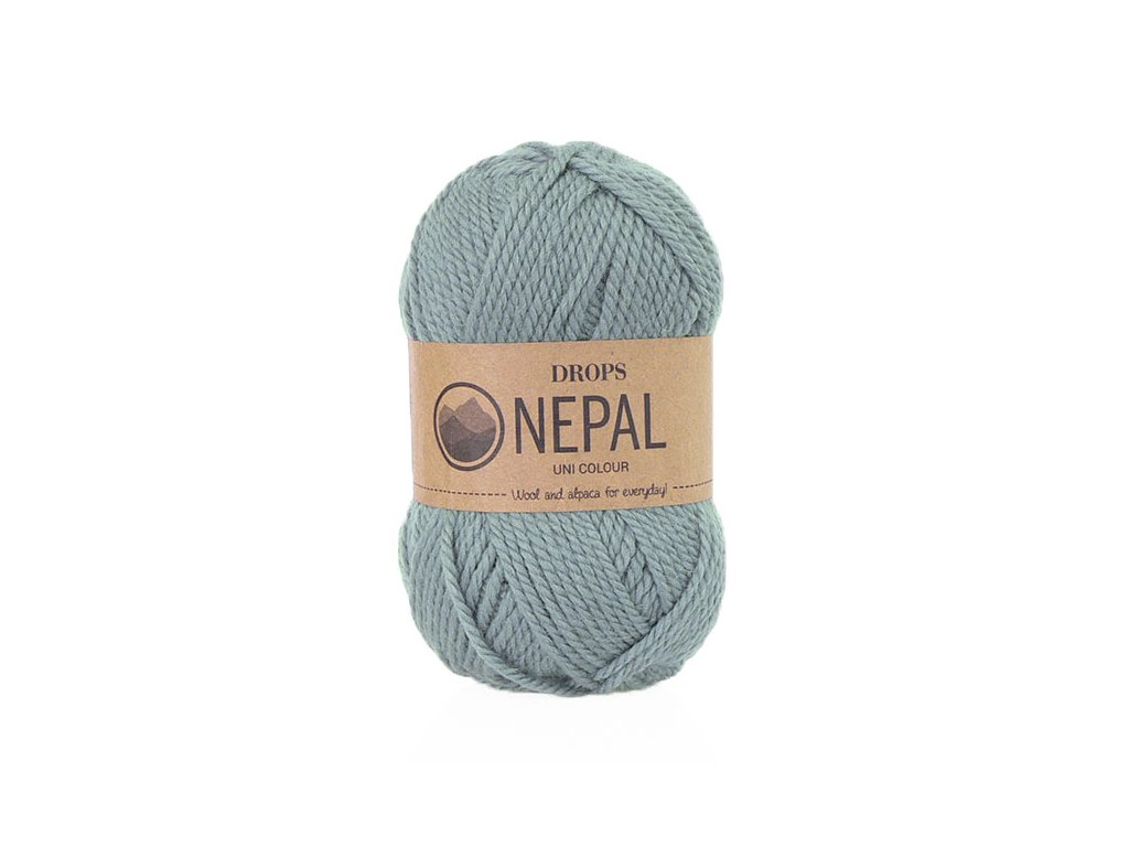 Příze DROPS Nepal uni colour 7139 - šedomodrá