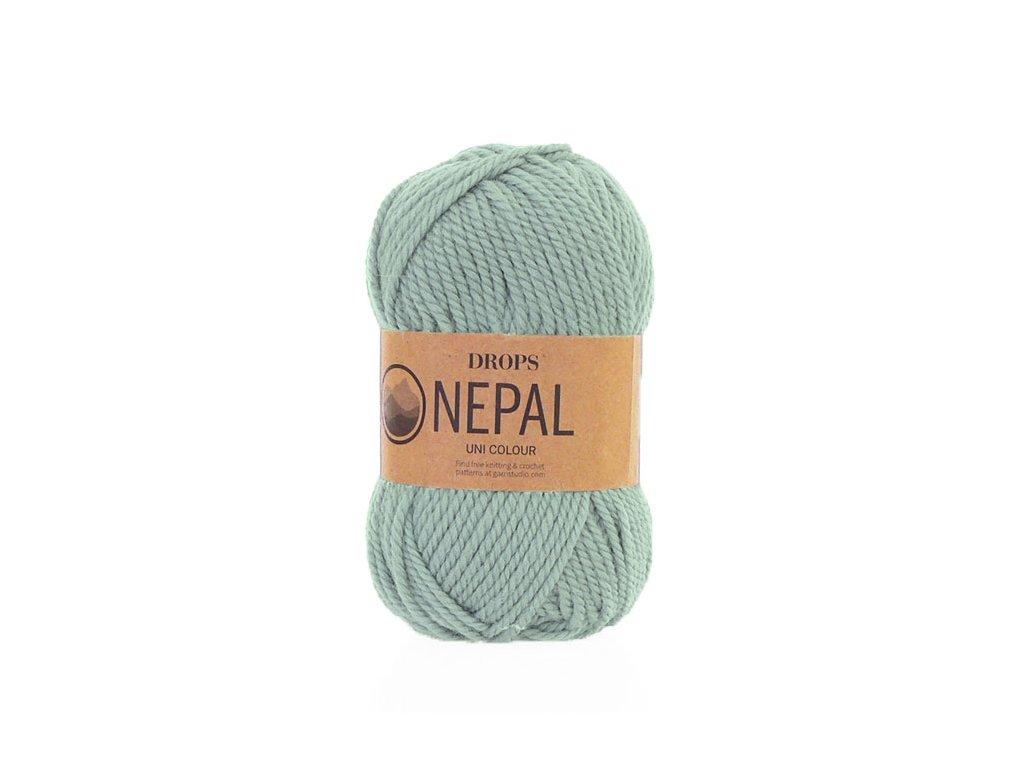 Příze DROPS Nepal uni colour 7120 - šedozelená