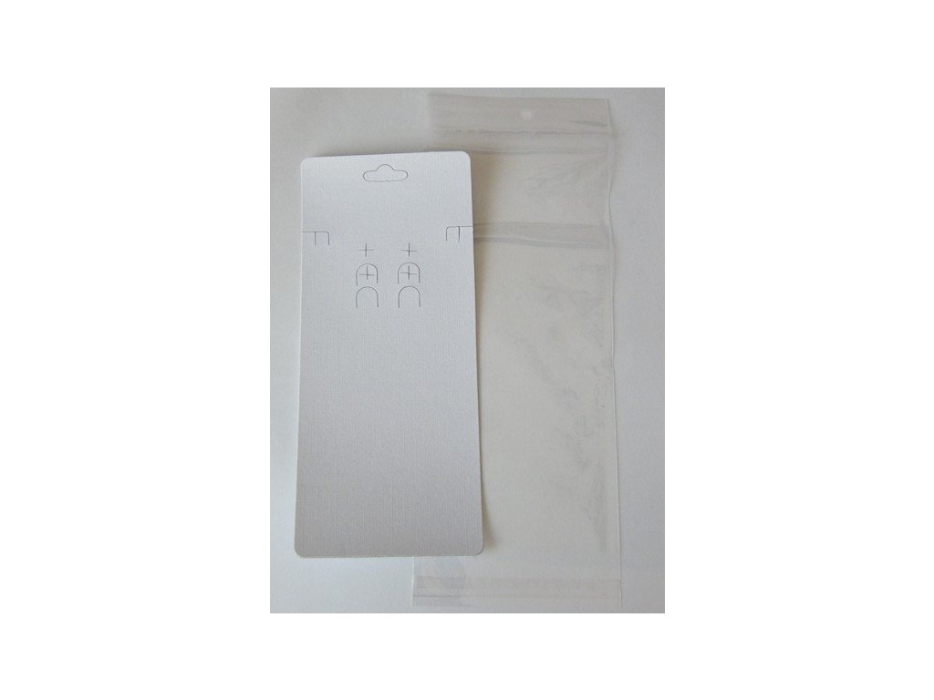 Bižuterní karta 83x193mm, bílá