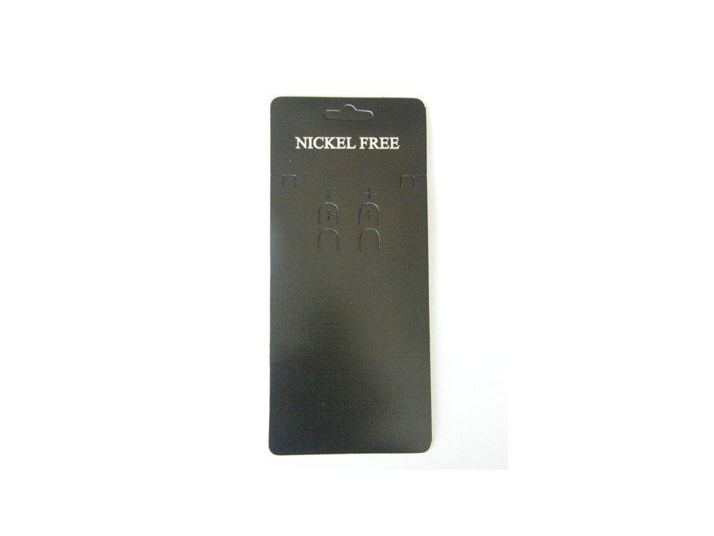 Bižuterní karta 85x190mm, černá