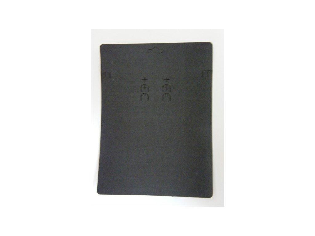 Bižuterní karta 150x200mm, černá