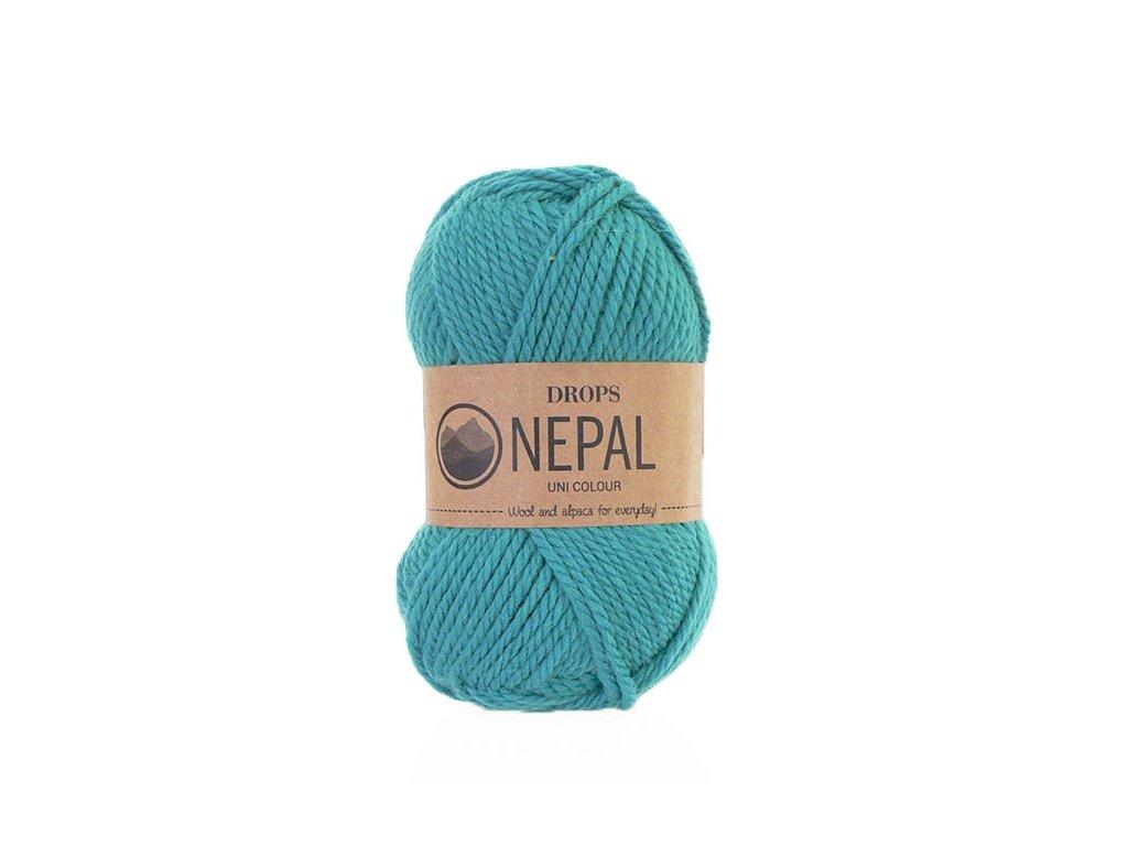 Příze DROPS Nepal uni colour  8911 - mořská modř