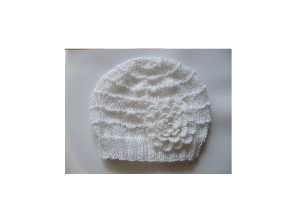 Dětská jarní/podzimní čepička bílá, 651