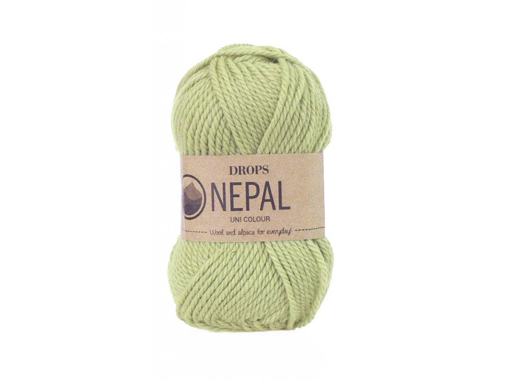 Příze DROPS Nepal uni colour 1477 - pistáciová