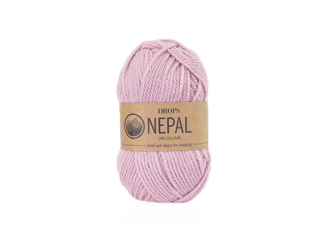 Příze DROPS Nepal uni colour 3720 – růžová