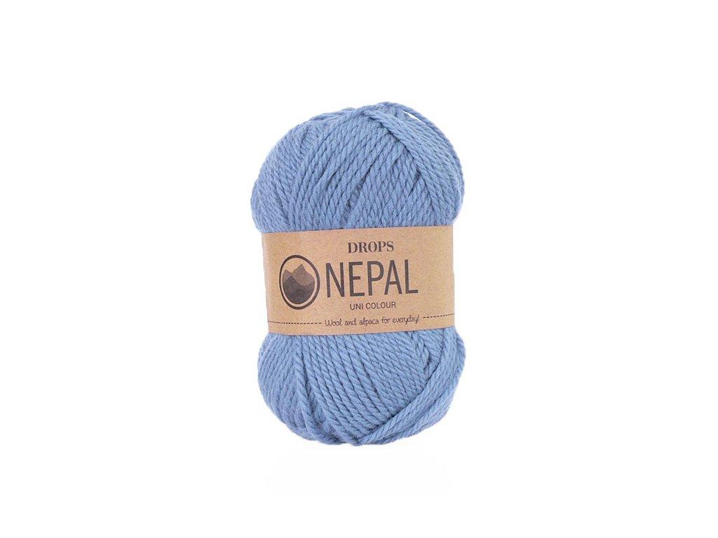 Příze DROPS Nepal uni colour 6220 - modrá
