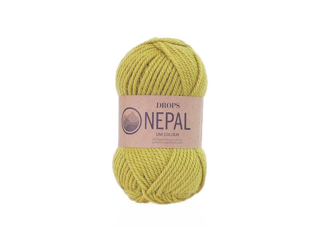 Příze DROPS Nepal uni colour  8038 - limetková