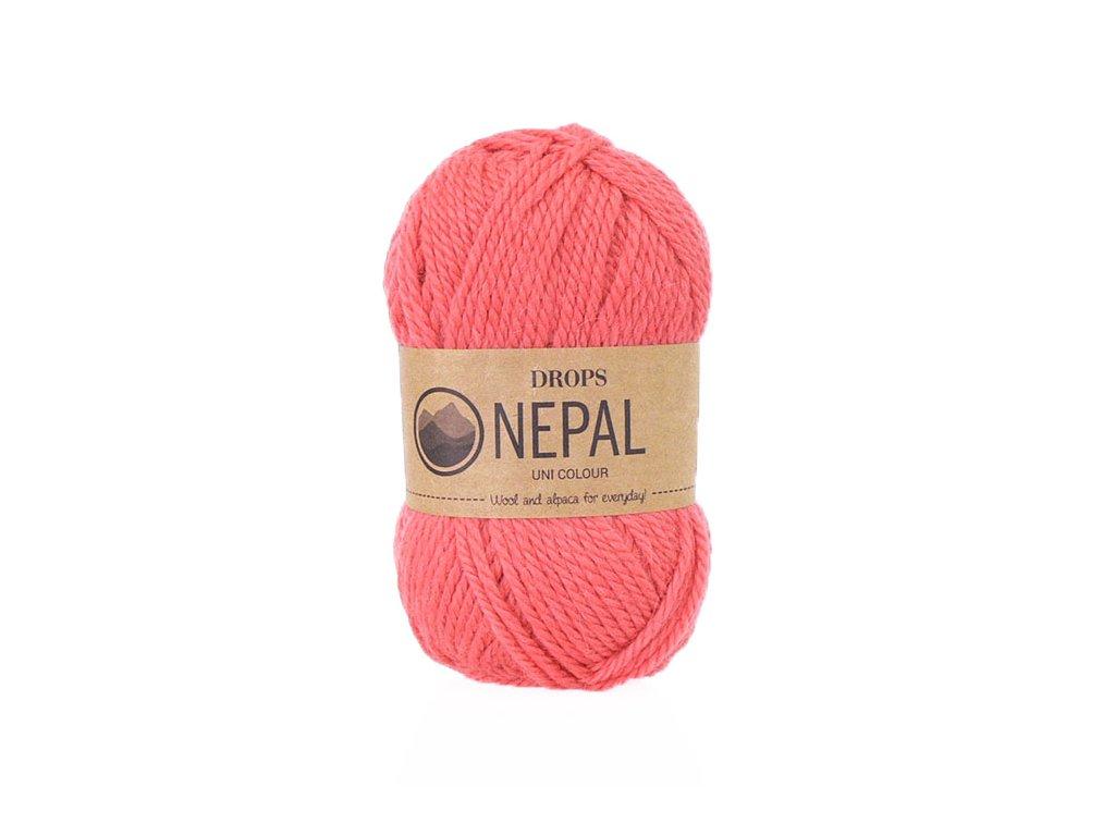 Příze DROPS Nepal uni colour  8909 - korálová