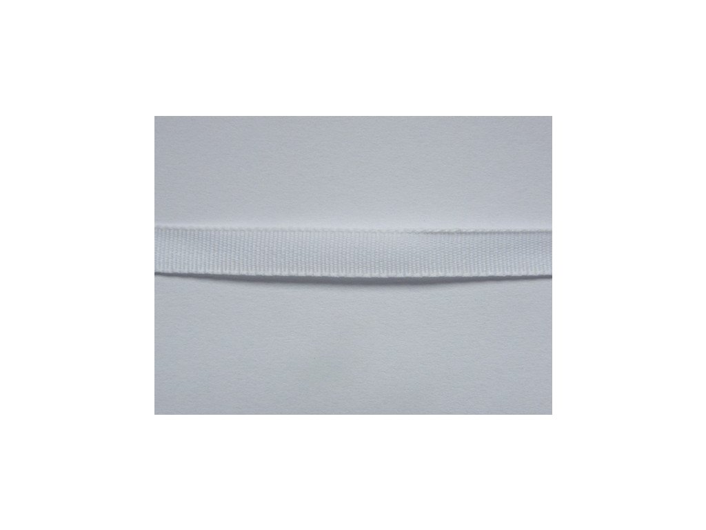 Stuha taftová 6mm ,  bílá - 100