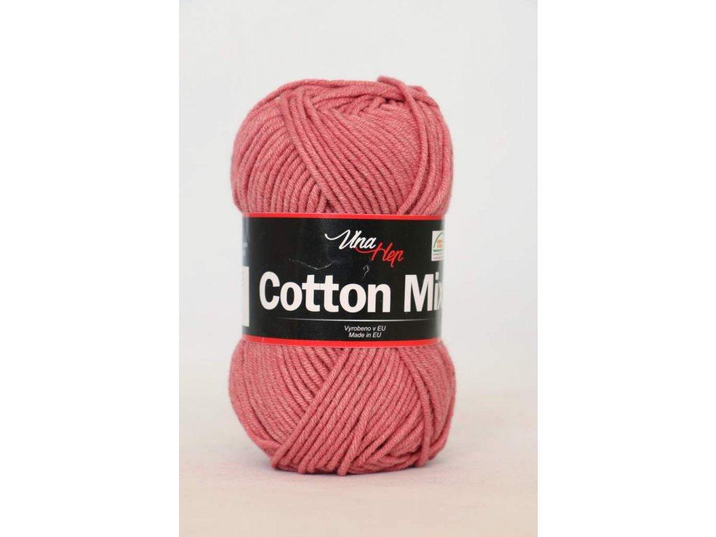 Příze Cotton Mix 8029 - tmavší starorůžová