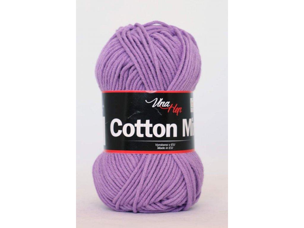 Příze Cotton Mix 8055 - fialová