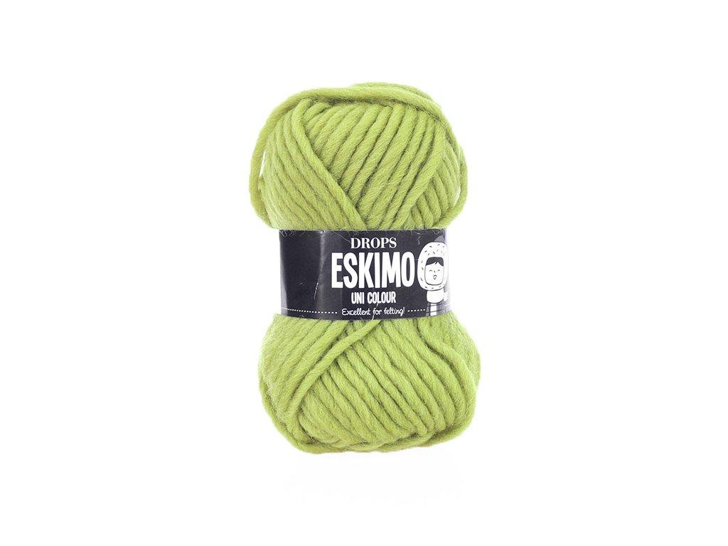 Příze DROPS Eskimo/Snow uni color 29 - zelenožlutá
