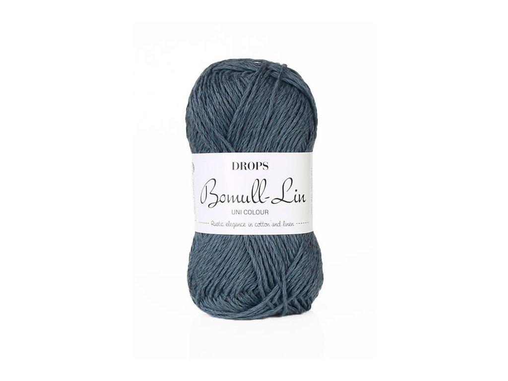 Příze DROPS Bomull-Lin 21 - tmavě modrá