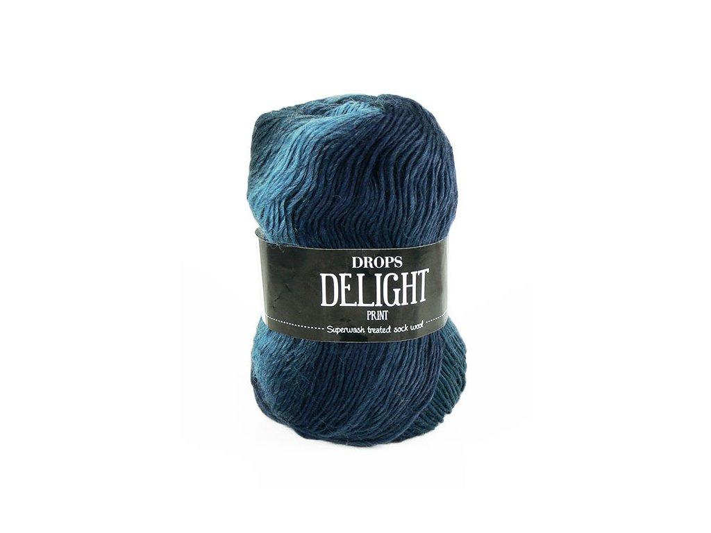 Příze DROPS Delight print 04 - odstíny modré