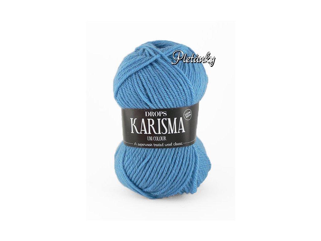 Příze DROPS Karisma uni colour 30 - světle džínově modrá