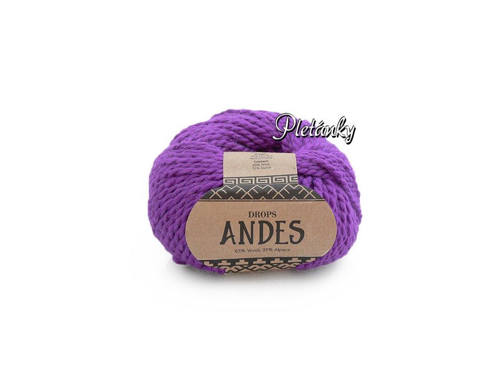 Příze Drops Andes uni colour 4066 - jasná fialová