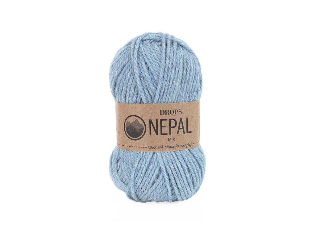 Příze DROPS Nepal mix 8907 - mlha