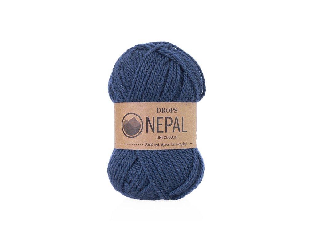 Příze DROPS Nepal uni colour 6790 - modrá