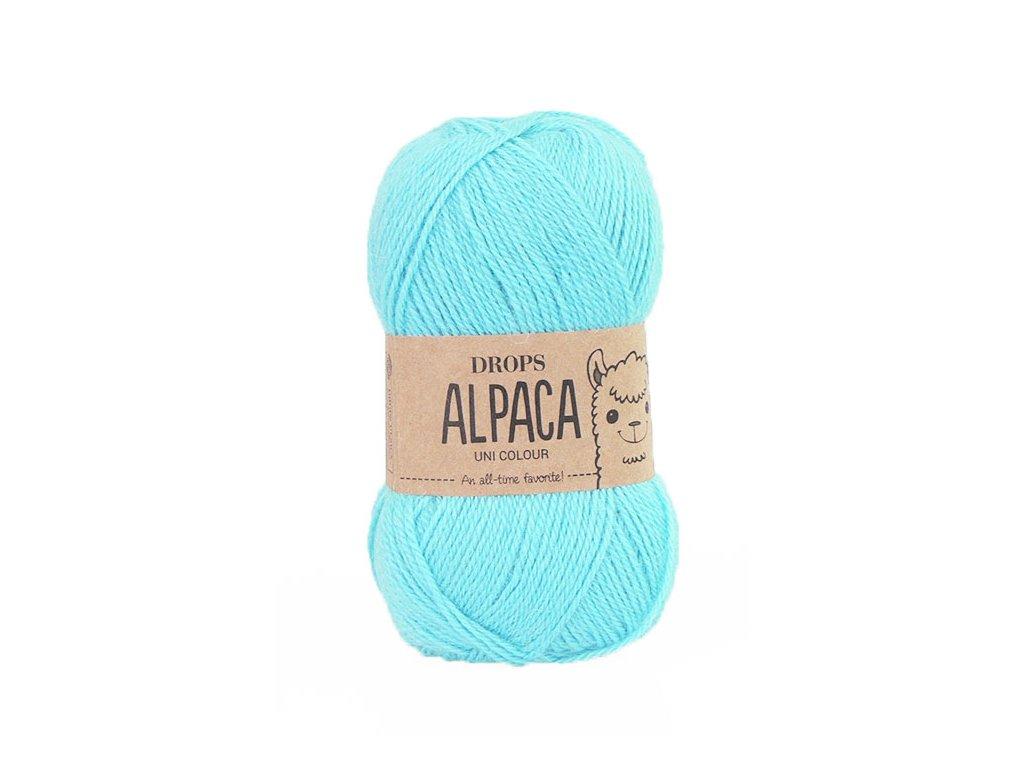 Příze DROPS Alpaca uni colour 2917 - světlá tyrkysová