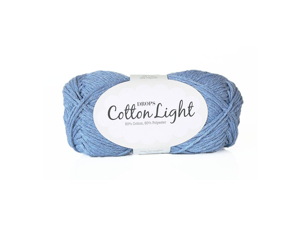 Příze DROPS Cotton light 34 - džínsová