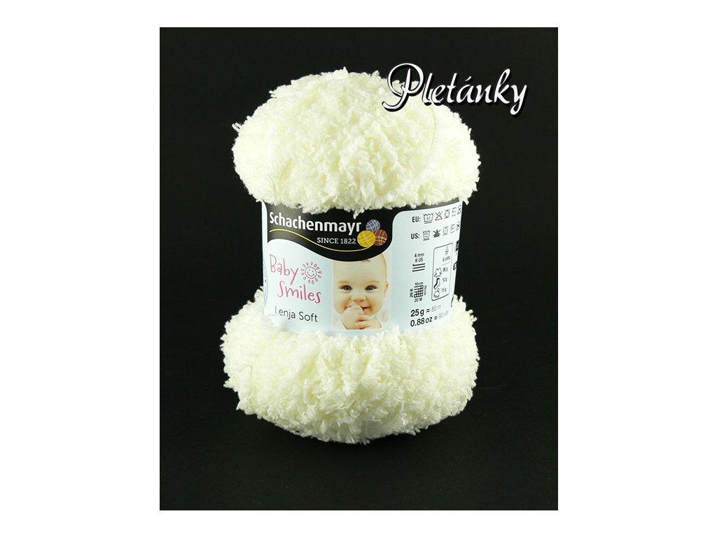 Příze Baby Smiles Lenja Soft 1002 - přírodní (smetanová)