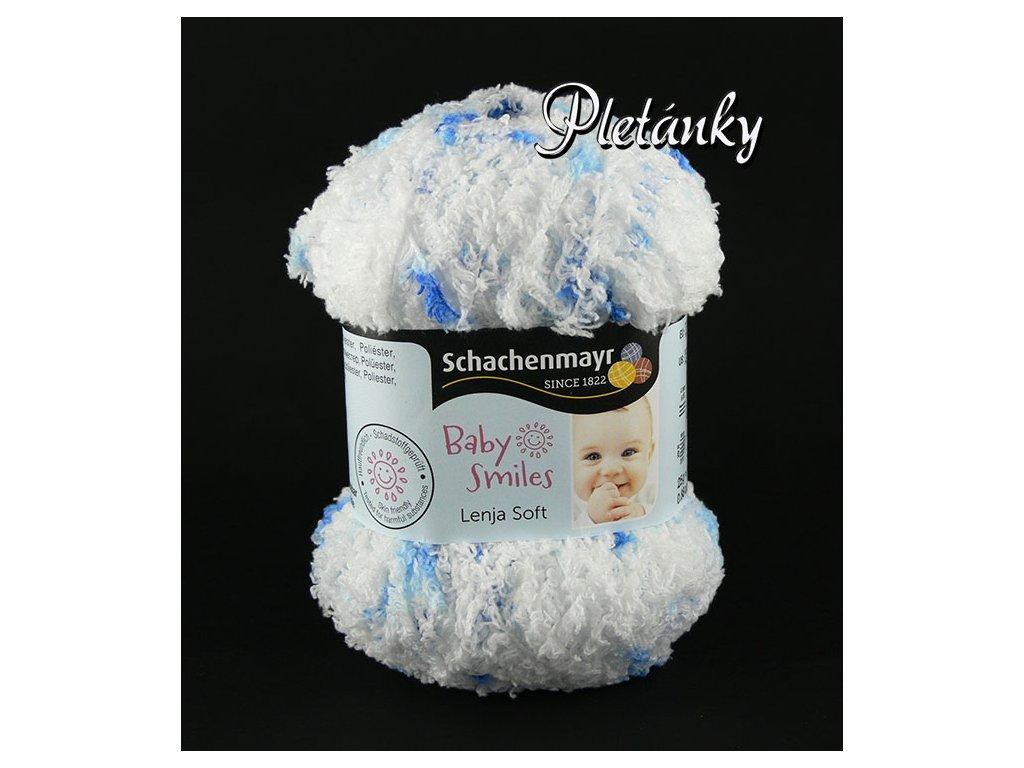 Příze Baby Smiles Lenja Soft 00082 - bílá, modrá