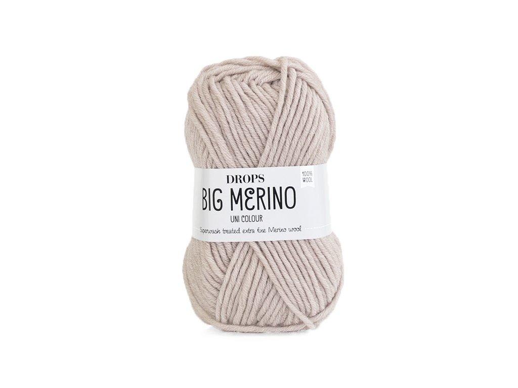Příze DROPS Big Merino uni color 19 - béžová