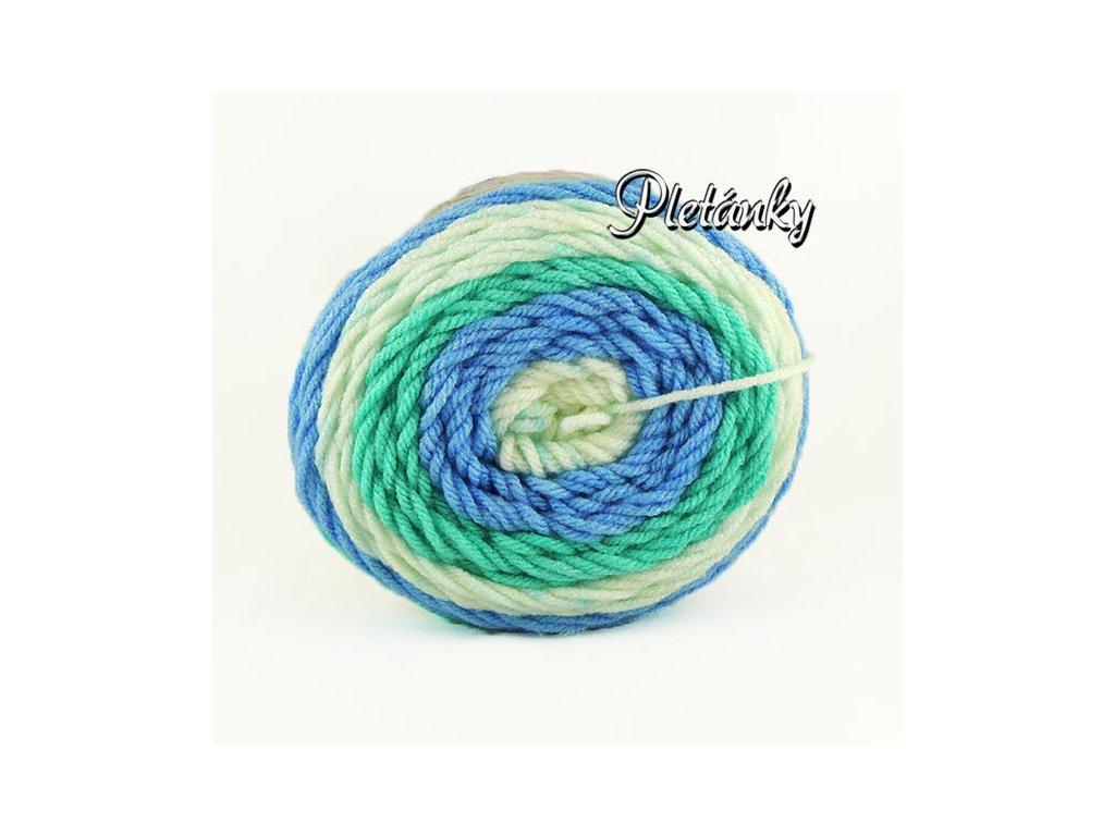 Sweet roll 1047-18 - bílá, zelená, modrá