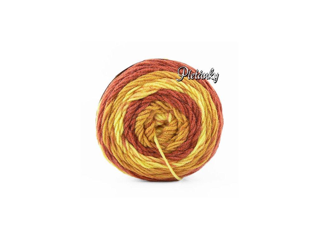 Sweet roll 1047-23 - odstíny zlaté, béžové, hnědorezavé