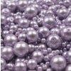 Voskované korálky mix velikostí 4-12mm, 50g, šeříková