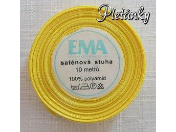 Stuha saténová 12 mm, 12 - kanárkově žlutá