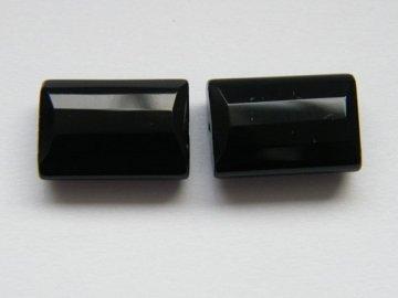 Onyx, obdélník fazetovaný 14x10mm