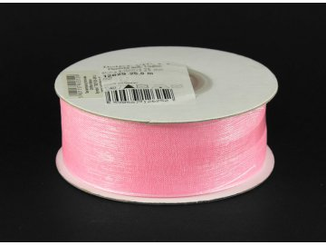 Stuha šifónová 25mm (metráž), růžová