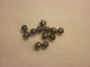 Akrylové korálky s pokovem kulička 6mm