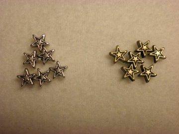 Kovová hvězdička 6mm